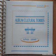 Sellos: AÑO COMPLETO ESPAÑA 1995 EDIFIL 3335 ** A 3405 ** MONTADO EN HOJAS TORRES. Lote 283265983