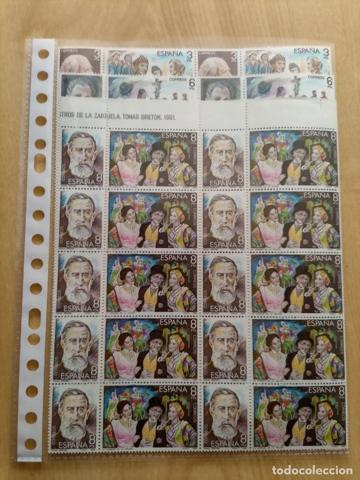 SELLOS EN HOJA DE 20 MAESTROS DE LA ZARZUELA 1981 60 SELLOS (Sellos - España - Juan Carlos I - Desde 1.975 a 1.985 - Nuevos)