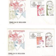 Sellos: ESPAÑA 1986 SOBRE PRIMER DIA EDIFIL 2853/56 - PERSONAJES. Lote 285585418