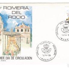 Sellos: ESPAÑA 1986 SOBRE PRIMER DIA EDIFIL 2842 - FIESTAS POPULARES. Lote 285585768