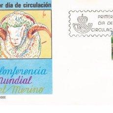 Sellos: ESPAÑA 1986 SOBRE PRIMER DIA EDIFIL 2839 - CONF. MUNDIAL DEL MERINO. Lote 285586218