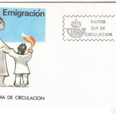 Sellos: ESPAÑA 1986 SOBRE PRIMER DIA EDIFIL 2846 -LA EMIGRACION. Lote 285586543