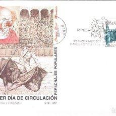 Sellos: ESPAÑA 1997 SOBRE PRIMER DIA EDIFIL 3488 - PERSONAJES POPULARES. Lote 285592223