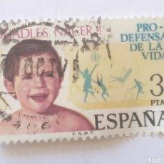 Sellos: SELLO ESPAÑA PRO DEFENSA DE LA VIDA AÑO 1975 USADO 3 PESETAS. Lote 285679253