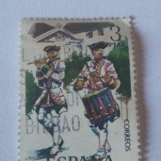 Sellos: SELLO ESPAÑA TAMBOR Y PÍFANO ROTO GRANADA 1984 USADO. Lote 286060888