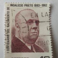 Sellos: SELLO ESPAÑA INDALECIO PRIETO 1983 USADO. Lote 286266673