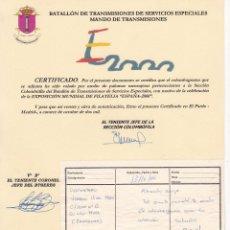 Sellos: GP31- COLOMBOGRAMA VOLADO POR PALOMA MENSAJERA. ESPAÑA 2000. Lote 286383058