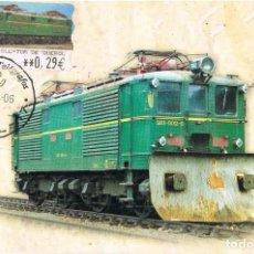 Sellos: 0972. TARJETA MAXIMA RIPOLL (GERONA) 2006. FERROCARRIL. ATM TOR DE QUEROL. Lote 286950563
