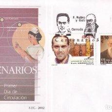 Francobolli: SELLOS ESPAÑA OFERTA SOBRES DEL PRIMER DÍA AÑO 2002. Lote 287334803