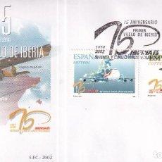 Timbres: SELLOS ESPAÑA OFERTA SOBRES DEL PRIMER DÍA AÑO 2002. Lote 287335283