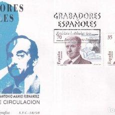 Sellos: SELLOS ESPAÑA OFERTA SOBRES DEL PRIMER DÍA AÑO 1998. Lote 287339168