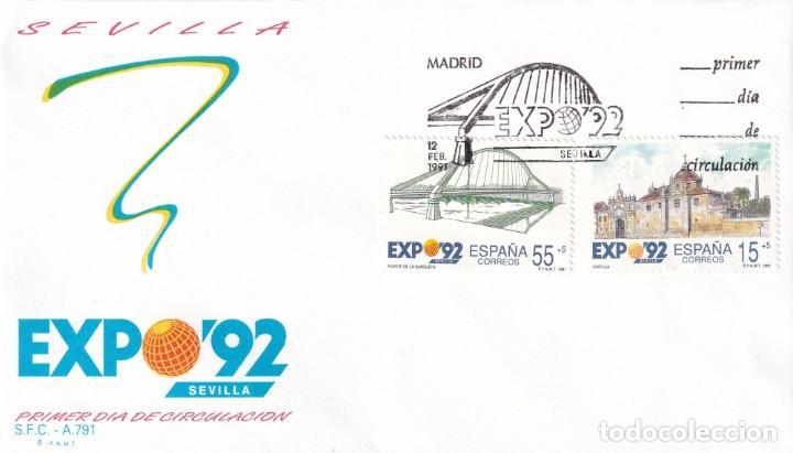 SELLOS ESPAÑA OFERTA 2 SOBRES DEL PRIMER DÍA AÑO 1991 (Sellos - España - Juan Carlos I - Desde 1.986 a 1.999 - Nuevos)