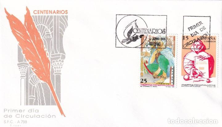 Sellos: Sellos España OFERTA 2 sobres del primer día año 1991 - Foto 2 - 287360978