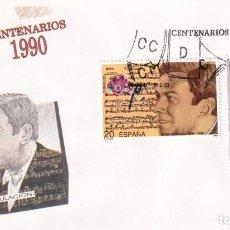 Sellos: SELLOS ESPAÑA OFERTA 2 SOBRES DEL PRIMER DÍA AÑO 1990. Lote 287361808