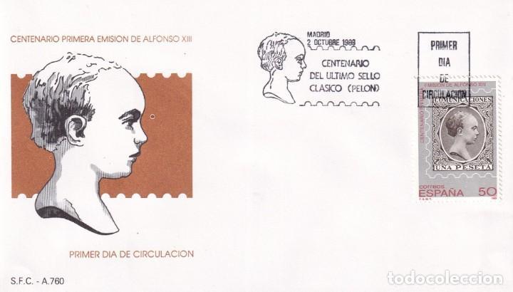 SELLOS ESPAÑA OFERTA SOBRES DEL PRIMER DÍA AÑO 1989 (Sellos - España - Juan Carlos I - Desde 1.986 a 1.999 - Nuevos)