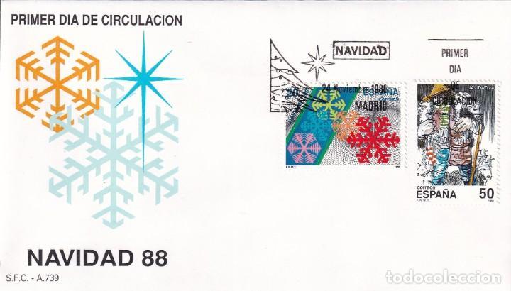 SELLOS ESPAÑA OFERTA SOBRES DEL PRIMER DÍA AÑO 1988 (Sellos - España - Juan Carlos I - Desde 1.986 a 1.999 - Nuevos)