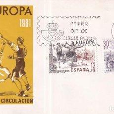 Sellos: SELLOS ESPAÑA OFERTA SOBRES DEL PRIMER DÍA AÑO 1981. Lote 287477828