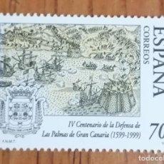 Sellos: SELLO IV CENTENARIO DE LA DEFENSA DE LAS PALMAS DE GRAN CANARIA. Lote 287493203