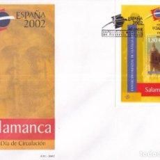 Francobolli: SELLOS ESPAÑA OFERTA SOBRE DEL PRIMER DÍA GRAN FORMATO AÑO 2002. Lote 287551868