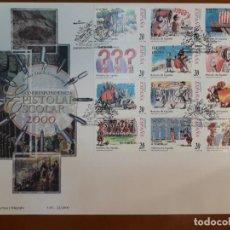 Timbres: SELLOS ESPAÑA OFERTA SOBRE DEL PRIMER DÍA GRAN FORMATO AÑO 2000. Lote 287555043