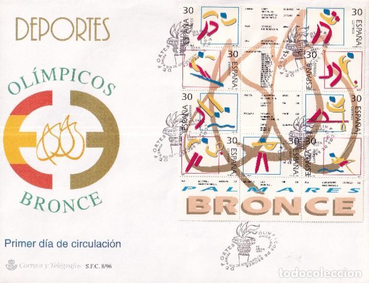 SELLOS ESPAÑA OFERTA SOBRE DEL PRIMER DÍA GRAN FORMATO AÑO 1996 (Sellos - España - Juan Carlos I - Desde 1.986 a 1.999 - Nuevos)