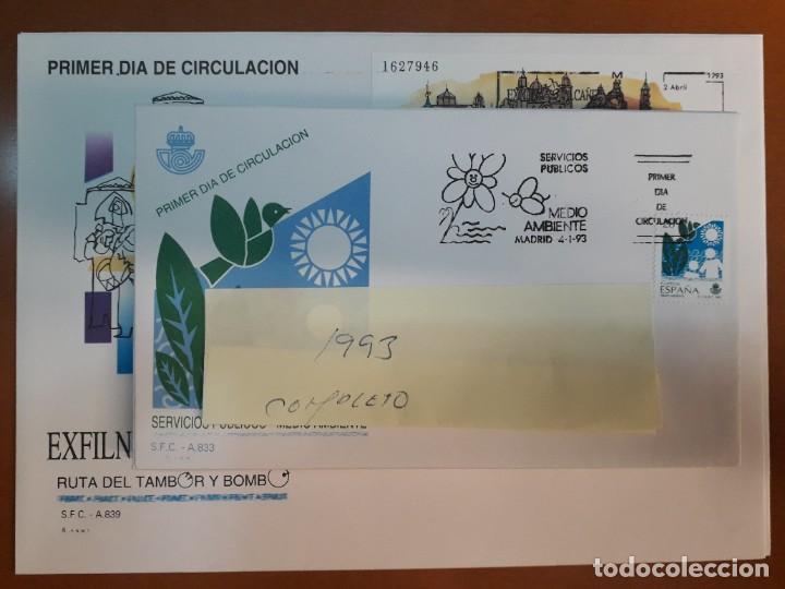 SELLOS ESPAÑA OFERTA SOBRES DEL PRIMER DÍA AÑO 1993 COMPLETO (Sellos - España - Juan Carlos I - Desde 1.986 a 1.999 - Nuevos)
