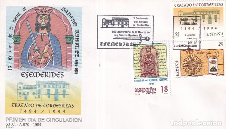 Sellos: Sellos España OFERTA sobres del primer día año 1994 COMPLETO - Foto 17 - 287705053