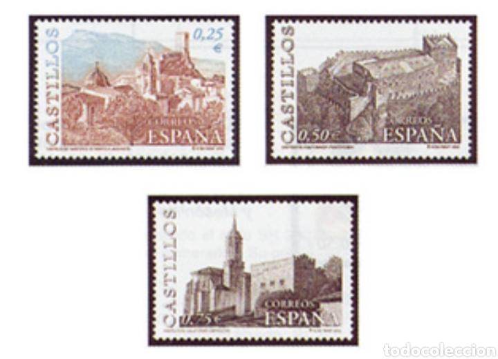 ESPAÑA N°3889/91 MNH** CASTILLOS 2002 (FOTOGRAFÍA ESTÁNDAR) (Sellos - España - Juan Carlos I - Desde 2.000 - Nuevos)