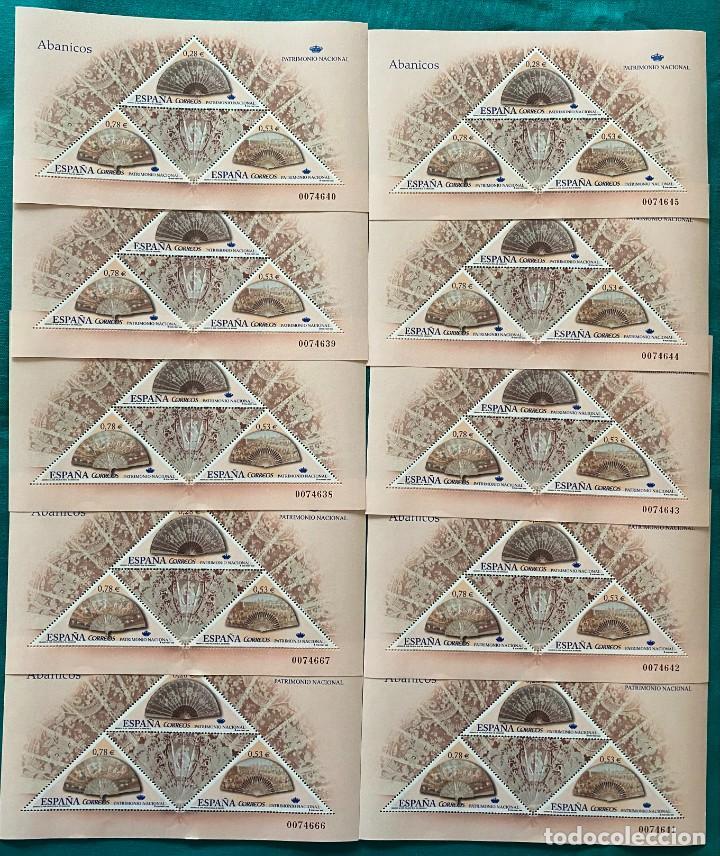 ESPAÑA, SPAIN, AÑO 2005, EDIFIL 4164, PATRIMONIO NACIONAL, ABANICOS, 10 HOJAS-BLOQUE, A FACIAL (Sellos - España - Juan Carlos I - Desde 2.000 - Nuevos)