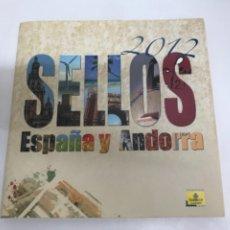 Sellos: LIBRO OFICIAL DE CORREOS CON LOS SELLOS DE ESPAÑA Y ANDORRA AÑO 2012 COMPLETO.. Lote 287820223