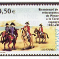 Sellos: ESPAÑA N°3897 MNH** BICENTENARIO MENORCA 2002 (FOTOGRAFÍA ESTÁNDAR).. Lote 287836513