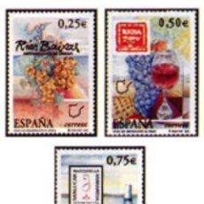 Sellos: ESPAÑA N°3909/11 MNH**VINOS CON DENOMINACIÓN DE ORIGEN 2002 (FOTOGRAFÍA ESTÁNDAR). Lote 287838108