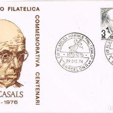 Sellos: 0978. CARTA BARCELIONA 1976. PAU CASALS, MUSICA. Lote 287843488