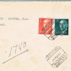 Sellos: 0979. FRONTAL CERTIFICADO MANRESA (BARCELONA) 1957. Lote 287843688