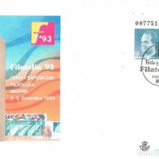 Sellos: 0980. ENTERO POSTAL MADRID 1993. FERIA EXPOSICION FILATELIA 93. Lote 287844163