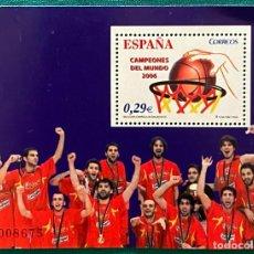 Sellos: ESPAÑA, SPAIN, AÑO 2006, EDIFIL 4267, BALONCESTO, ESPAÑA CAMPEONES DEL MUNDO. Lote 287848538