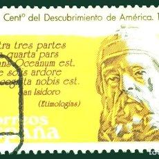 Sellos: ESPAÑA - V CENTENARIO DESCUBRIMIENTO DE AMERICA - 1986. Lote 288128798