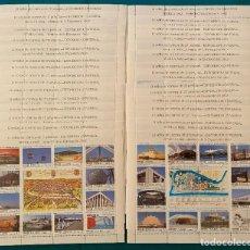 Sellos: ESPAÑA, SPAIN, AÑO 1992, EDIFIL 3164/87, MP 42A/42B, EXPO SEVILLA 92, 15 JUEGOS MINIPLIEGOS A FACIAL. Lote 288380488