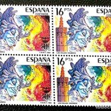 Sellos: ESPAÑA. 2745 FIESTAS: FALLAS, EN BLOQUE DE CUATRO. 1984. SELLOS NUEVOS Y NUMERACIÓN EDIFIL. Lote 288588173