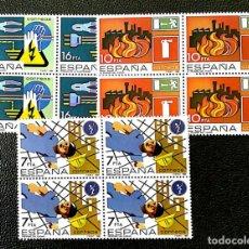Sellos: ESPAÑA. 2732/34 PREVENCIÓN DE ACCIDENTES LABORABLES, EN BLOQUE DE CUATRO. 1984. SELLOS NUEVOS Y NUME. Lote 288588423