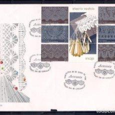 Sellos: ESPAÑA 1989 - SPD-FDC - ARTESANIA ENCAJES DE BOLILLOS- EDIFIL Nº 3016/3021. Lote 288675523