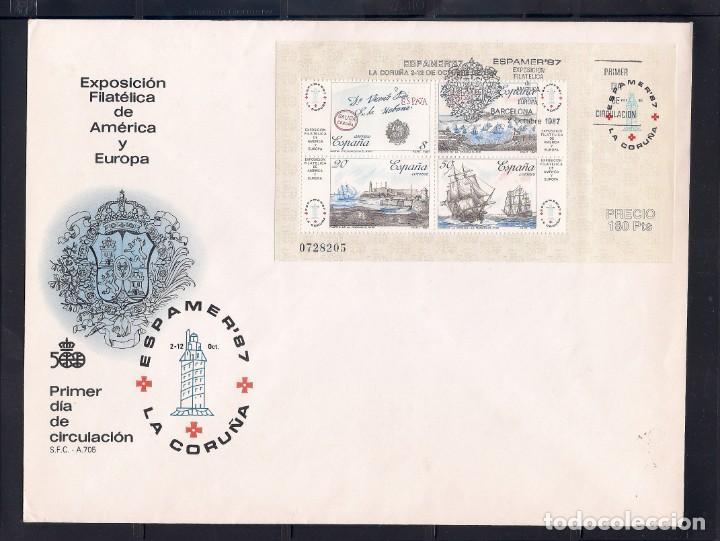 ESPAÑA 1987 - SPD-FDC - ESPAMER 87 EN LA CORUÑA - EDIFIL Nº 2916 (Sellos - España - Juan Carlos I - Desde 1.986 a 1.999 - Cartas)
