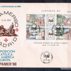 Sellos: ESPAÑA 1980 - SPD-FDC - ESPAMER 80 EN MADRID- EDIFIL Nº 2583 MATASELLOS BARCELONA. Lote 288676093