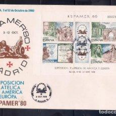 Sellos: ESPAÑA 1980 - SPD-FDC - ESPAMER 80 EN MADRID- EDIFIL Nº 2583 MATASELLOS MADRID. Lote 288677558