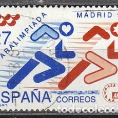 Sellos: EDIFIL Nº 3220, PARALIMPIADA EN MADRID, PAISES OLIMPICOS, JUEGOS OLIMPICOS DE BARCELONA 92, , USADO. Lote 288694523