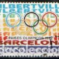 Sellos: EDIFIL 3211, PAISES OLIMPICOS: BARCELONA-ALBERTVILLE, USADO. Lote 288701088