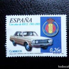 Sellos: -2003, CENTENARIO DEL R.A.C.E., EDIFIL SH3996A. Lote 288730568