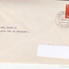 Sellos: SOBRE CON MATASELLOS DEL MONATERIO DE VALVANERA (LOGROÑO). Lote 288931328