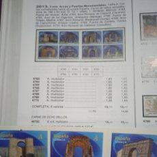 Sellos: SELLOS ESPAÑA AÑO 2013 N° 4763C SERIE COMPLETA EN CARNET NUEVO. Lote 289023963