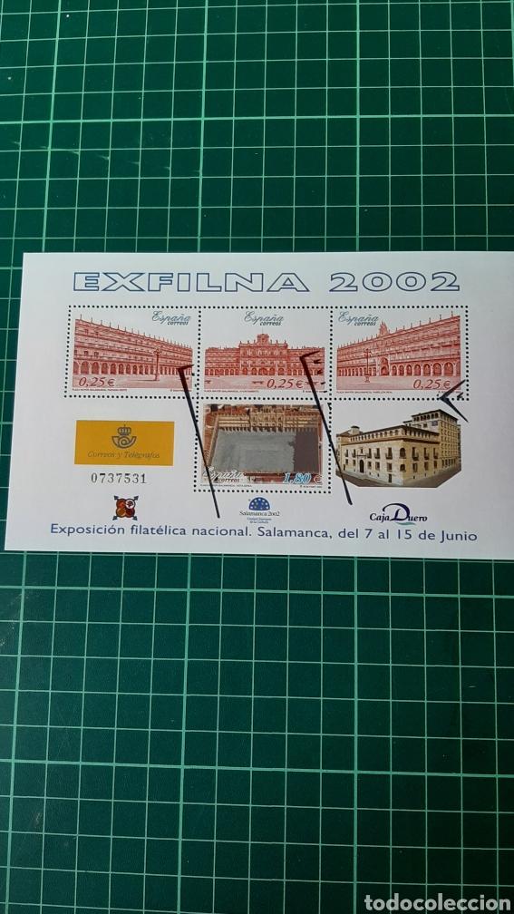 USADO LUJO ESPAÑA 2002 HOJA BLOQUE EDIFIL 3906 (Sellos - España - Juan Carlos I - Desde 2.000 - Usados)